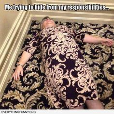 Woman's Dress Matches Rug Perfectly - This is too funny!