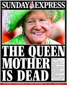 Front page March 31, 2002 The always remembered Queen Mother