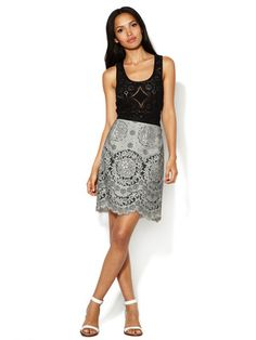 Anna Sui Antique Mixed Lace Skirt