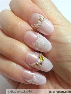 bridal wedding nail art