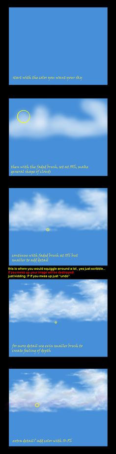 Clouds Tutorial for Photoshop by KrisKenshin