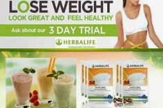 Herbalife: 3 Day Trial - contact me to get started!! sheer nutrition@hotmail.com
