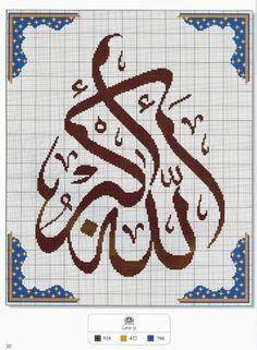 kanaviçe hat yazıları örnekleri - Google'da Ara Embroidery Patterns Free, Cross Stitch Patterns, Cross Stitching, Cross Stitch Embroidery, Tiny Cross Stitch, Cross Stitch Landscape, Arabic Pattern, Islamic Patterns, Le Point