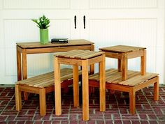 Great deals on teak outdoor tables; both dining and accent outdoor tables. Outdoor Side Table, Side Tables, Outdoor Decor, Teak Adirondack Chairs, Teak Outdoor Furniture, Outdoor Living Areas, Furniture Making, Home And Garden, Dining