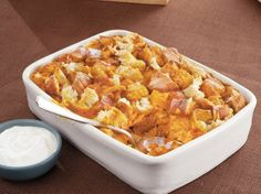 Pumpkin and Spice Bread Pudding recipe from Betty Crocker
