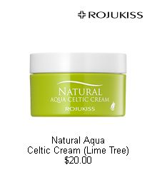 [Rojukiss] Natural Aqua Celtic Cream (Lime Tree) $20  Celtic, the ideal mineral water from the Unesco classified.  Freshly-Moisturizing aqua cream  for etiolated and dry skin !  + Skin soothing   + Prevention of moisture evaporation.  + Long-lasting moisture   #wishtrend #rojukiss