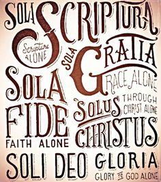 . Reformation Sunday, Sola Fide, 5 Solas, Sola Scriptura, Soli Deo Gloria, Altar Decorations, Holy Ghost, Jesus Saves, Praise God