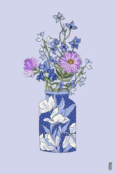 hgraceoc #illustration #flowers #vase