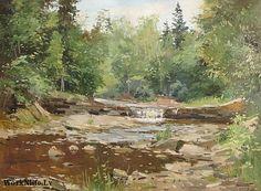 Pērses  ūdenskritums, 1957, Edgars Vinters (1919-2014, Latvia)