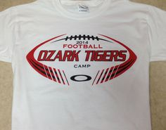Ozark Tigers Football Camp 2014 shirts