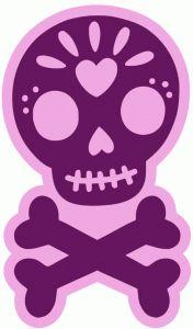sugar skull stamps