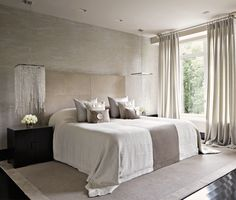 Summer is almost here and Room Decor Ideas has the best Summer Bedroom Ideas by Kelly Hoppen so you can get a luxury interior design on your home interiors. Bedroom With Bath, Home Bedroom, Bedroom Decor, Bedroom Ideas, Bedroom Lighting, Dream Bedroom, Modern Bedroom, Natural Bedroom, Bedroom Neutral