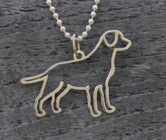 Gold Labrador necklace from Chester & Company. Love! $395
