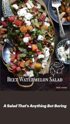 Watermelon Salad, Beet Salad, Cobb Salad, Chex Recipes, Different Salads, Brunch Party, Easy Salads, Lunches And Dinners, Beets