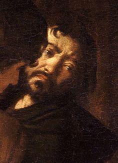 Michelangelo Merisi da Caravaggio, Self-Portrait from The Martyrdom of St. Matthew (1599-1600).