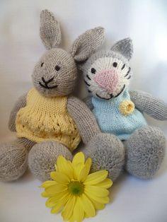 periwinklepark's Olga kitty and Olwyn Bunny