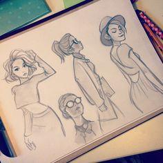 Girls from lookbook again  #sketching #girls #lookbook