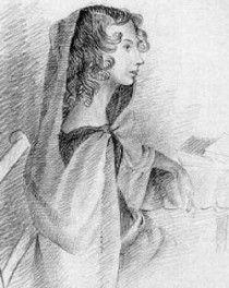 """Anne Bronte  (1820-1849), Escritora inglesa e a mais jovem das famosas Irmãs Brontë. Autora do romance """"A Moradora de Wildfell Hall """"."""