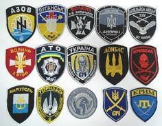 Ukrainian patch patriots Lot of 15 Territorial Defense Battalions Ukraine #1
