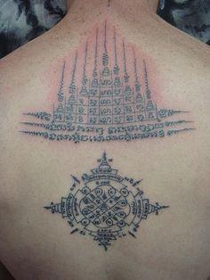 bamboo tattoo with tradition design (Dejavu Tattoo Studio Chiangmai Thailand) by augrust, via Flickr