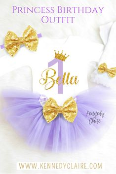 Purple and Gold Birthday Outfit perfect for Princess Sofia Birthday Outfits