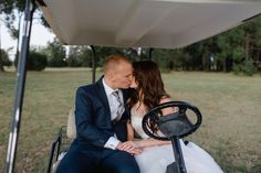 Couple Shoot Bride  Groom Golf