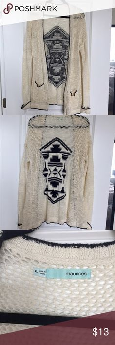 Long cardigan Great long cardigan. Only worn twice! Smoke free home. Maurices Sweaters Cardigans