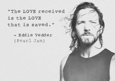 The love HE received is THE love that is saved...and