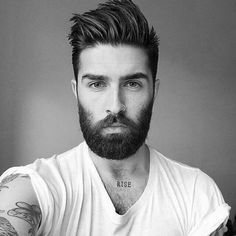 Great hair, tatts & nose ring… Prefer less facial hair though! – Joni Bickay Great hair, tatts & nose ring… Prefer less facial hair though! Great hair, tatts & nose ring… Prefer less facial hair though! Cool Haircuts, Haircuts For Men, Beard Haircut, Beard Grooming, Beard Tattoo, Popular Hairstyles, Men Hairstyles, Hipster Hairstyles Men, Amazing Hairstyles