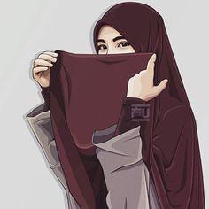 From hijab to niqab Anime Muslim, Muslim Hijab, Hijabi Girl, Girl Hijab, Muslim Girls, Muslim Women, Muslim Couples, Tmblr Girl, Hijab Drawing
