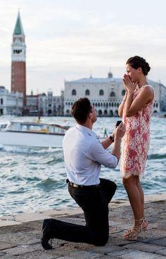 Heartwarming engagement photo from Venice, Italy | Luca Fazzolari Photography