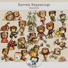 SoMa Design: Harvest Happenings - Characters Happenings, Digital Scrapbooking, Harvest, Characters, Kit, Shit Happens, Design, Events, Figurines
