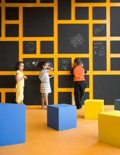 Love the possibilities, here!  Anansi Playground Building - blackboard & composition