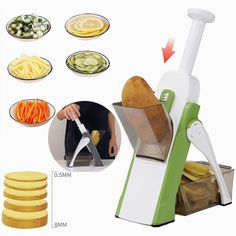 Diy Kitchen, Kitchen Stuff, Kitchen Tools, Diy Crafts Easy To Make, Mandoline, Creative Inventions, Food Chopper, Cool Gadgets To Buy, Le Chef