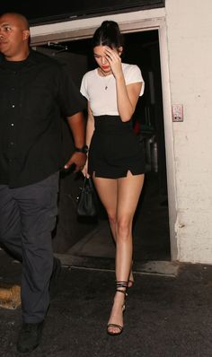 Kendall Jenner Pulls Off a Daringly Short Miniskirt at Sofia Richie's Birthday Party #Celebrities