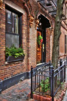 Back Bay Boston Doorways