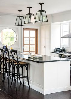 The best House Rules rooms. - Home Beautiful Buy Bar Stools, Black Appliances, House Rules, Good House, Reno, French Decor, Cool Rooms, Kitchen Styling, Interior Design Kitchen