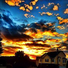 Crazy, beautiful sky over #Cartersville, #Georgia!