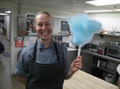 Pastry Chef Tara loves making cotton candy with kids during their stay. It's a sweet way to enjoy #Seattle.