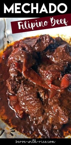 Mechado: A Filipino Beef Dish // Serve With Rice