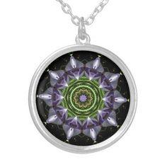 #Flower Round #Pendant #Necklace