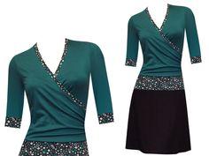 Entdecke lässige und festliche Kleider: HerbstBunt Kleid Enia - viele Farben made by ungiko via DaWanda.com
