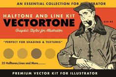 VectorTone is a collection of swatches and actions that make it crazy easy to add halftones and cross hatching to your work. Vector Converter, Vector Brush, Line Texture, Flyer, Chalkboard Art, Retro Futurism, Vintage Books, Vintage Games, Adobe Illustrator