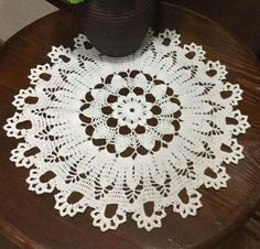 Wedding Lace Doily White Crochet Lace Doily by DoliaGalinaCrochet