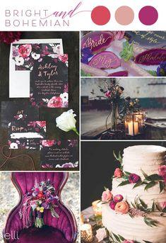 Bright Bohemian Wedding Inspiration and Invites