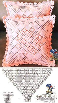 Granny Pattern, Crochet Motif Patterns, Crochet Pillow Pattern, Bead Loom Patterns, Crochet Diagram, Crochet Chart, Crochet Lace, Crochet Hooks, Free Crochet