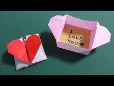 """折り紙1枚でできる「ふた付きの箱」""""The box with a lid"""" made in one sheet of origami - YouTube"""