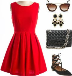 Turn heads this Valentine's Day with this flirty red Valentine's day outfit! See more here