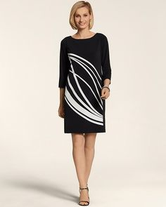 Chico's Abstract Palm Leah Dress #chicos