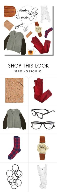 """""""Study, sleep, repeat"""" by clampigirl ❤ liked on Polyvore featuring Nomess, Comptoir Des Cotonniers, Chicnova Fashion, Ray-Ban, Tommy Hilfiger, ASOS, H&M, Oscalito, Sophie Hulme and outfit"""